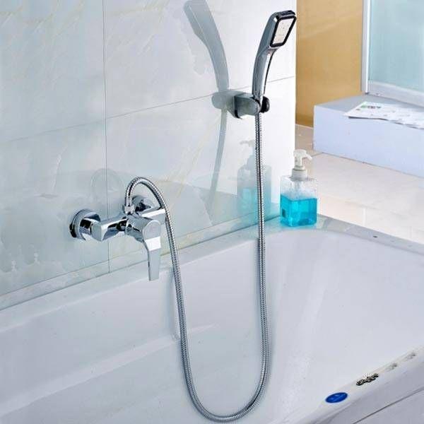 Pressurized Water Saving Square Hand Shower Head Bath Shower Set - Water-saving-set-for-the-bathroom