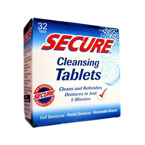 SECURE Denture Adhesive Denture Cleanser (32 Tablets)