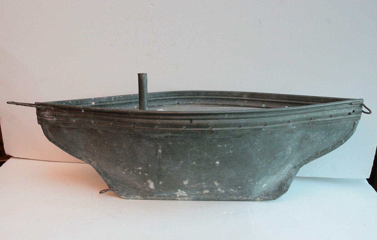 Meuble Salle De Bain Bas Bois ~ voilier de bassin en zinc quille lest e 52cm sailboat yacht