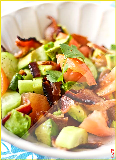 Bacon Avocado Salad with Bacon Dripping Dressing  Adventures in Cooking Bacon Avocado Salad with Ba