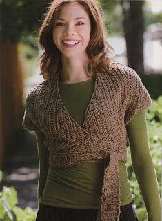 Wrap cropped sweater free pattern