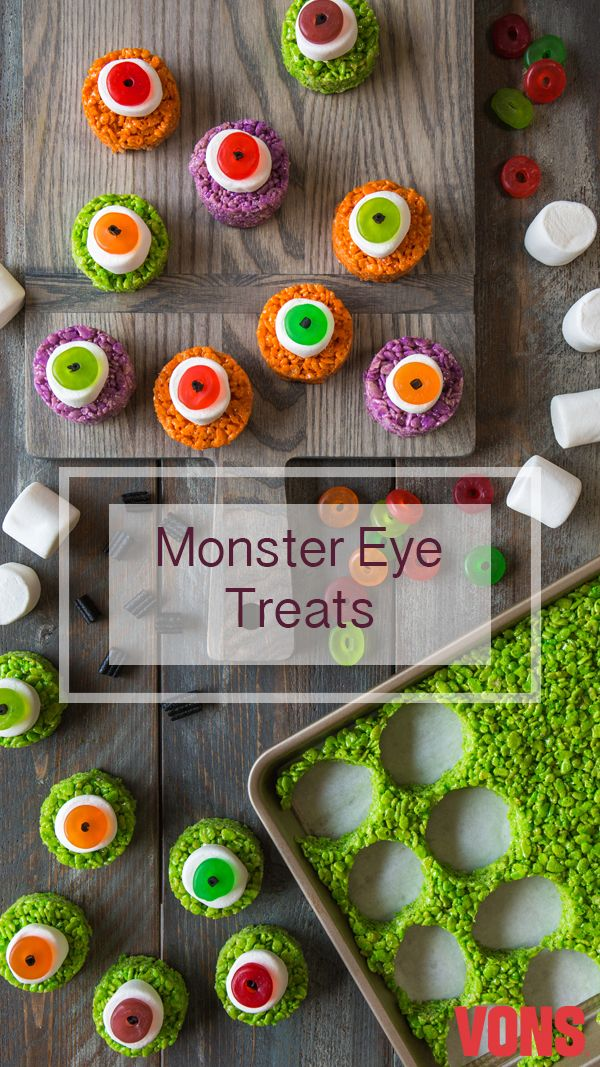 How adorable are these Monster Eye Treats? Made with mainly - cute halloween treat ideas