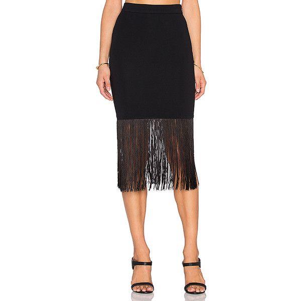 twenty Fringe Midi Skirt Skirts ($148) ❤ liked on Polyvore featuring skirts, midi skirt, calf length skirts, rayon skirt, fringe skirt and zipper skirt