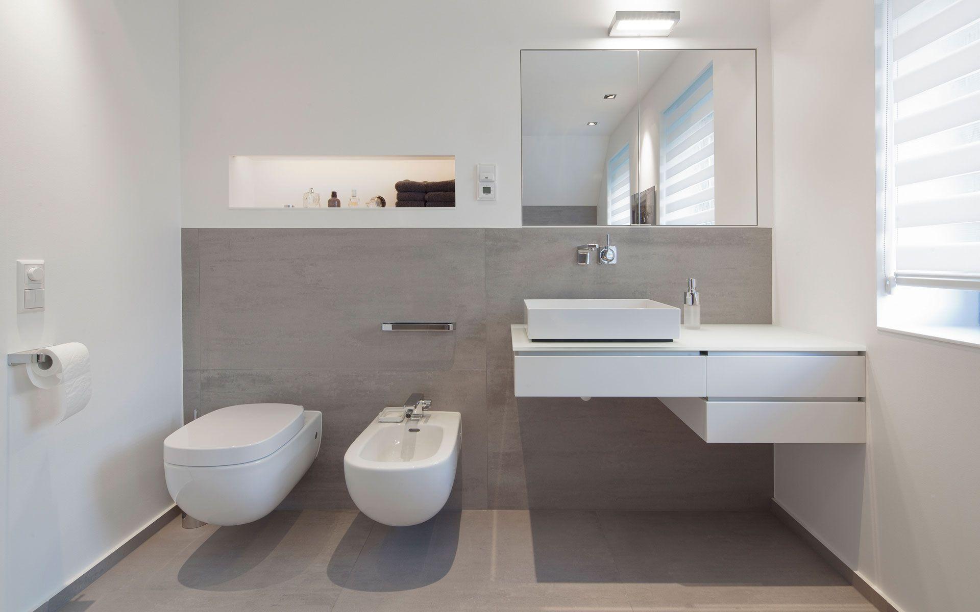 Badezimmer Modern Weiss Wohnzimmer Wandgestaltung Streichen