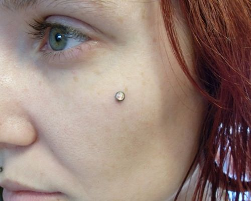 Extreme To Mainstream Cheek Piercing Pictures Cheek Piercings