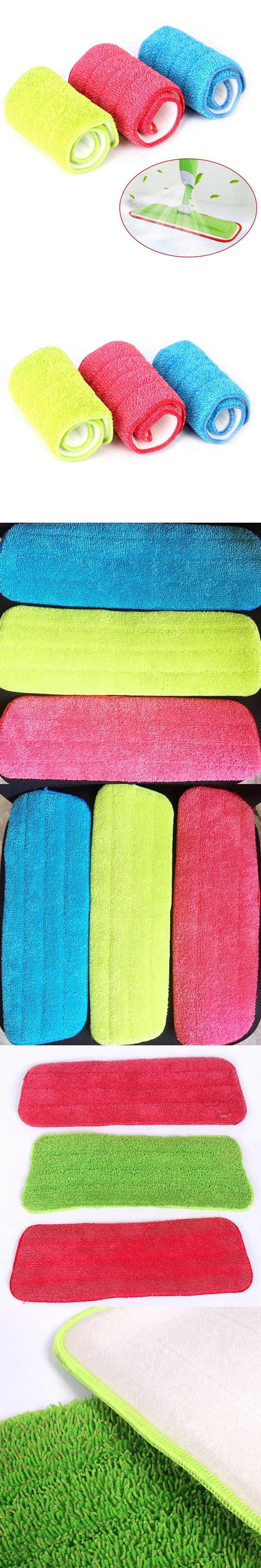 Practical household dust cleaning reusable microfiber pad for spray