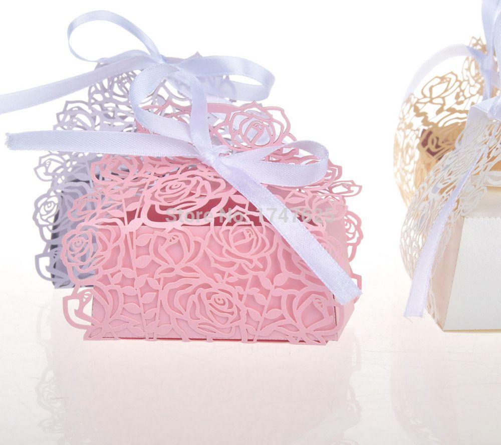 Rose favour box   IDEAS - CRAFT   Pinterest   Favours, White ribbon ...