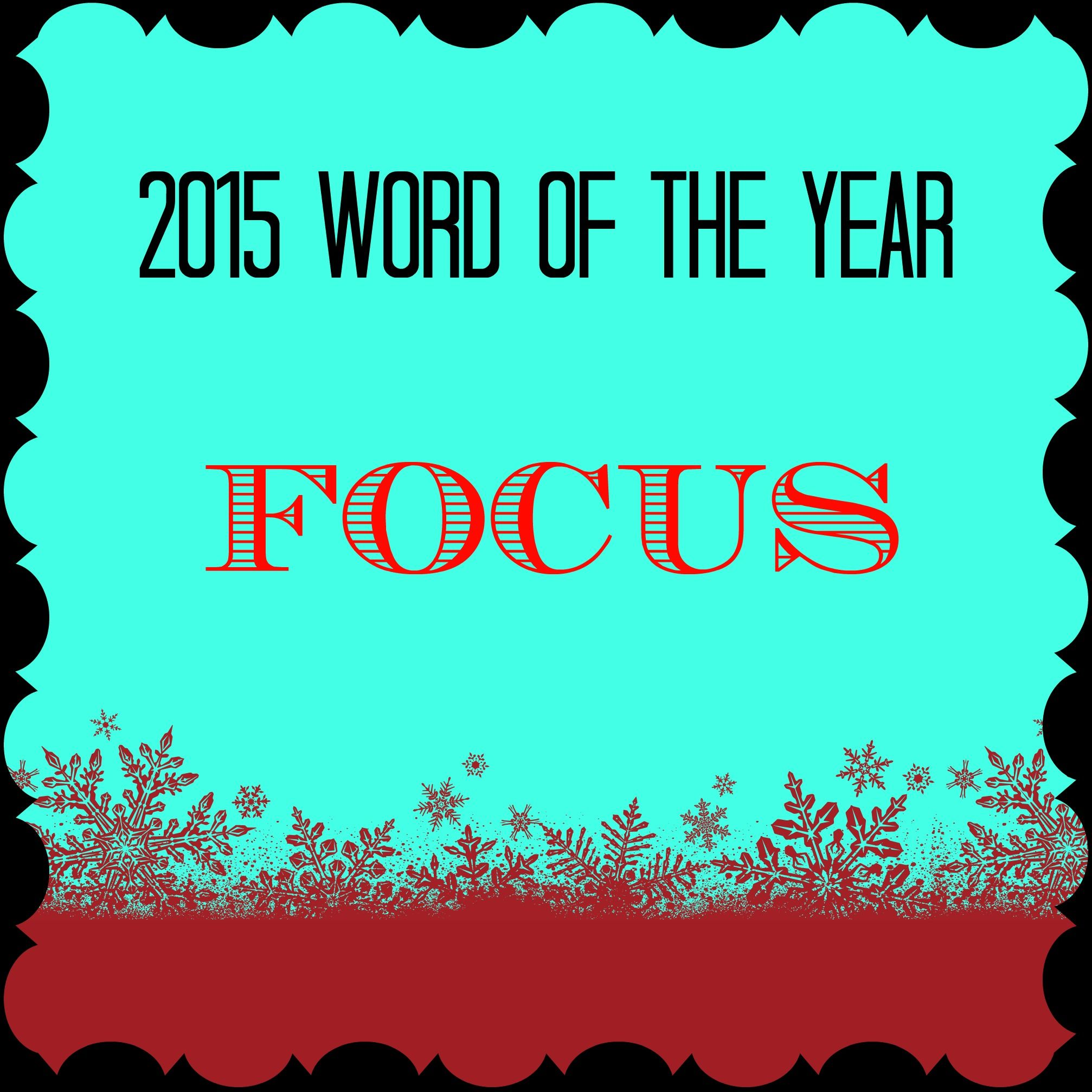 This is my second year doing the #wordoftheyear Check out my post to find out why my #word2015 is Focus and how I plan on implementing that!