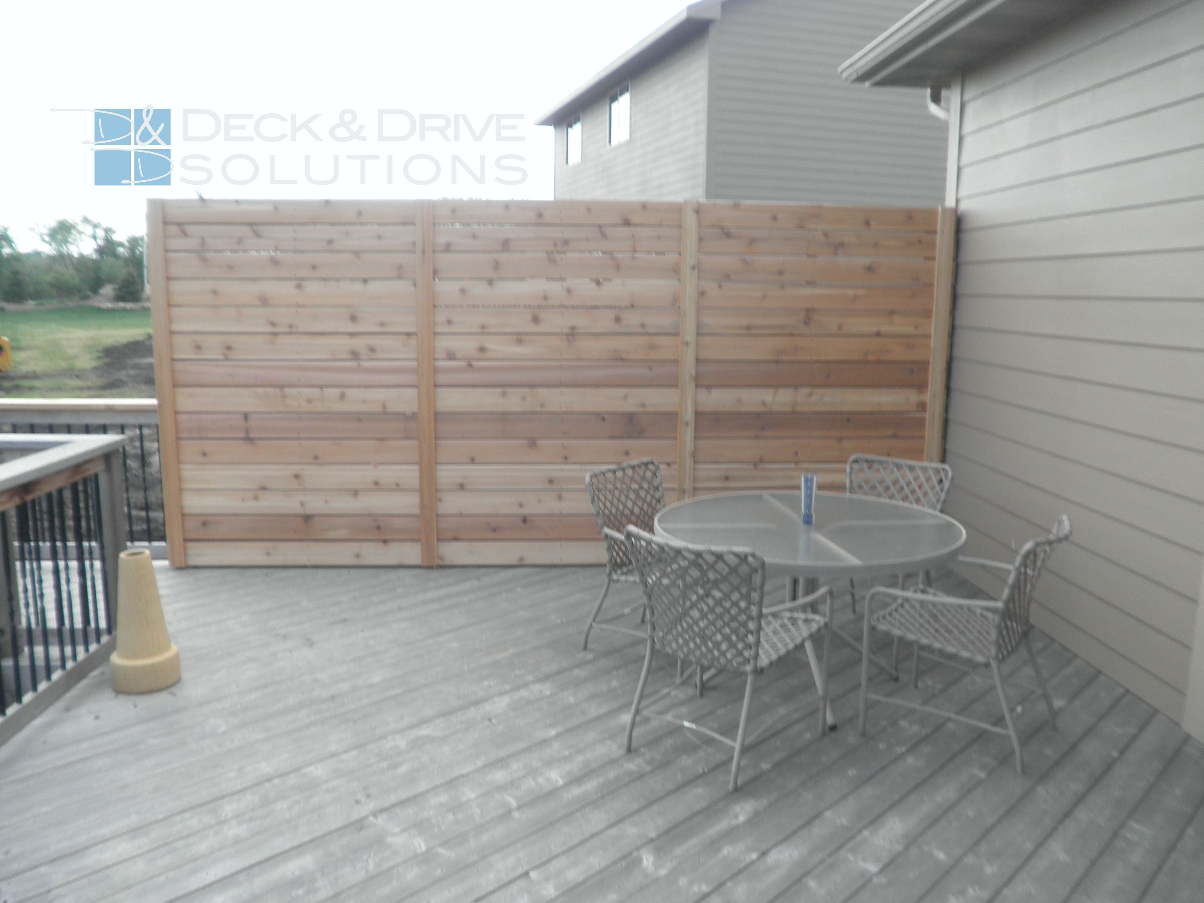 Patio privacy wall ideas - New Custom Privacy Wall On Deck Deck And Drive Solutions