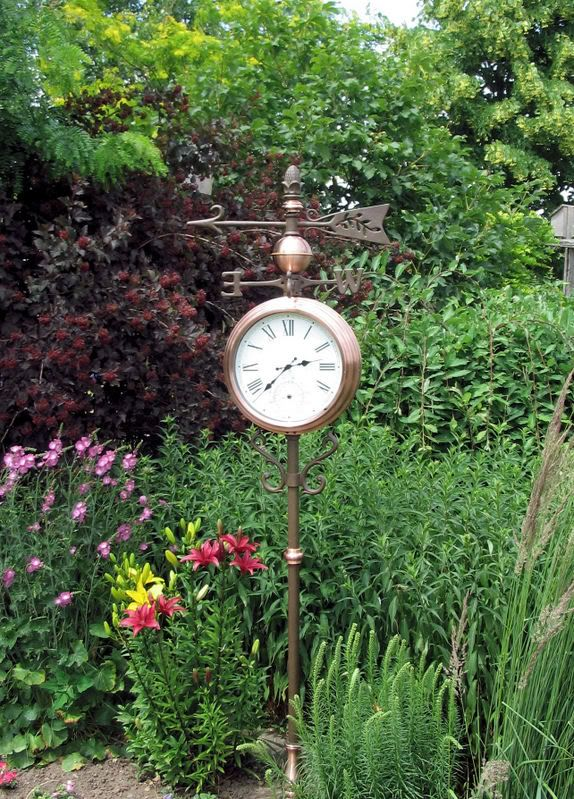 I D Love To Have This Copper Outdoor Clock And Thermometer