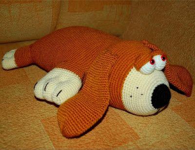 1000 схем амигуруми на русском собака подушка крючком символ года