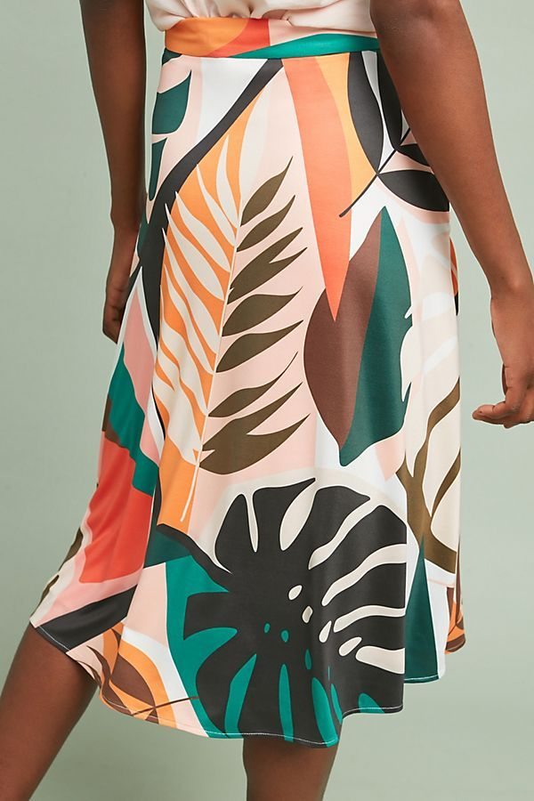 Tropical A-Line Skirt #tropicalpattern
