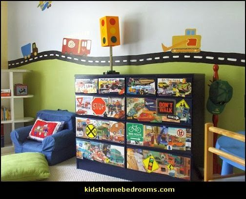 Transport Vehicles Theme Bedroom Decorating Ideas