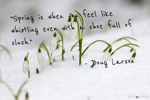 Yes, in Michigan, today, March 21, 2013... Spring is like is like slush but in Texas the weather is in the 70s with no humidity... perfect!