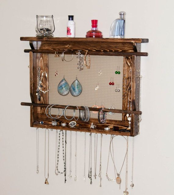 JEWELRY ORGANIZER LARGE Wall Mounted Jewelry Holder Available in