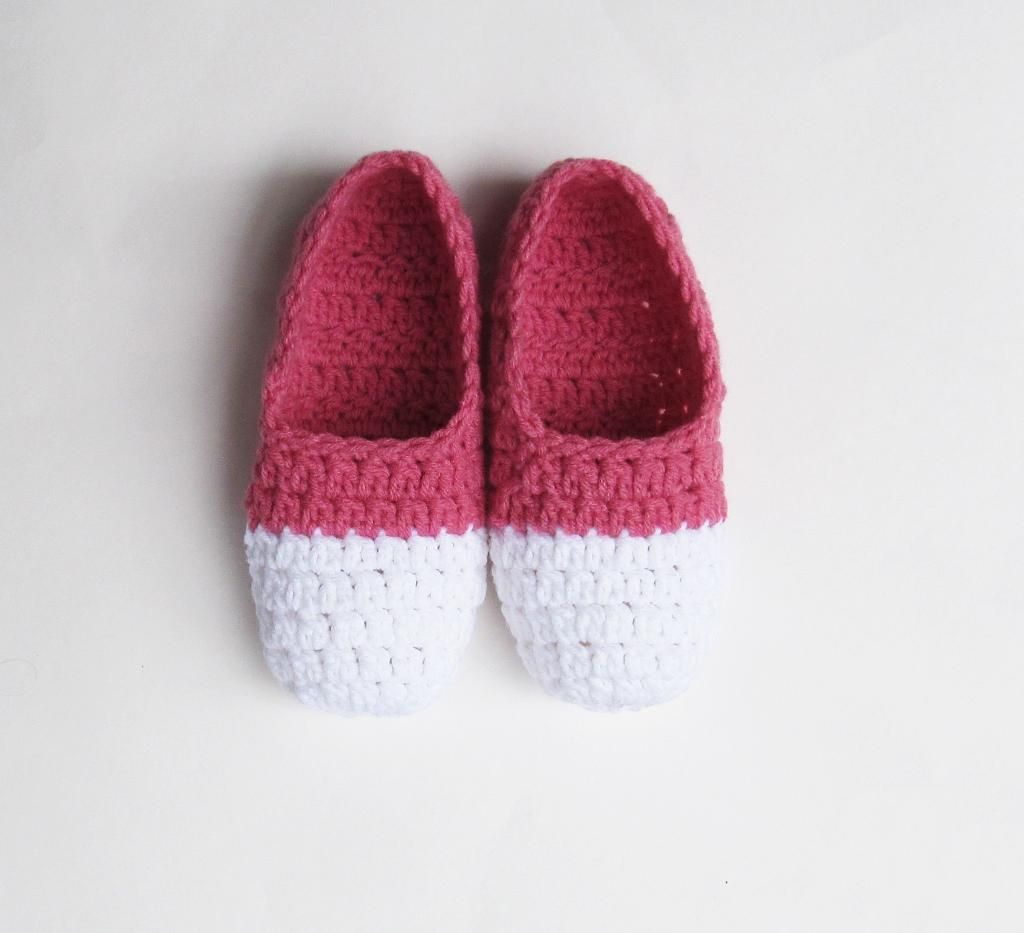 Pantuflas blanco con rosa