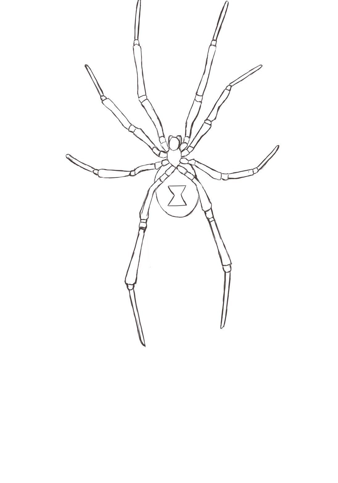Resultado de imagen de la viuda negra araña DIBUJO | medi ...