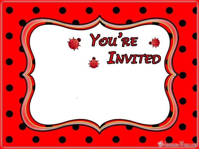 Blank Ladybug Invitation Template 8