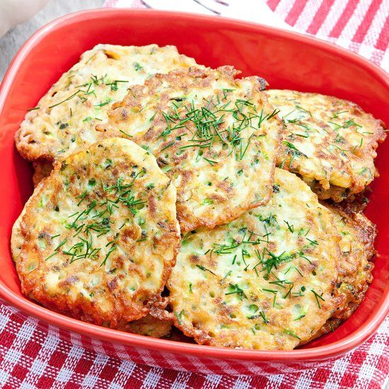 Try this zucchini fritters if you like fried veggies with tasty dip!