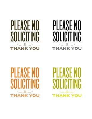 photo regarding No Soliciting Printable named Be sure to no soliciting indicators. Identity include in direction of insert an exception for