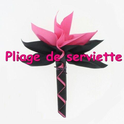 Pliage Serviette Fleur Du Paradis Folding Napkins Napkin