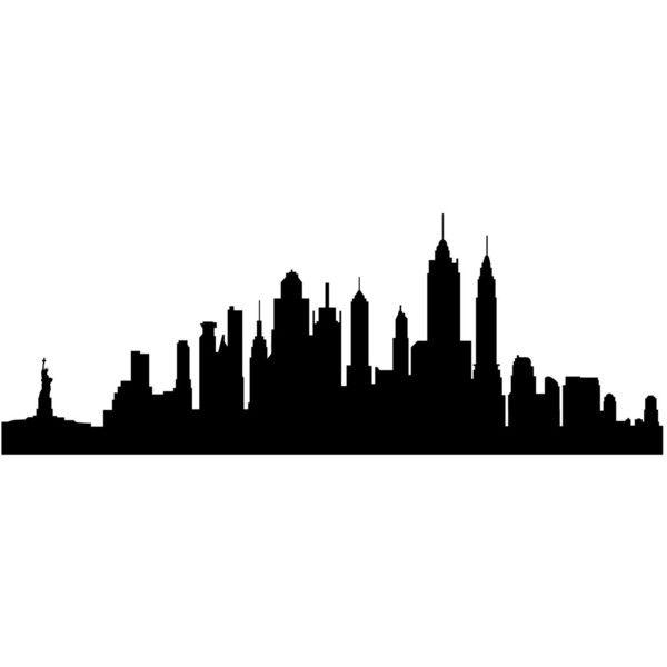 new york city skyline silhouette wall decal custom vinyl art
