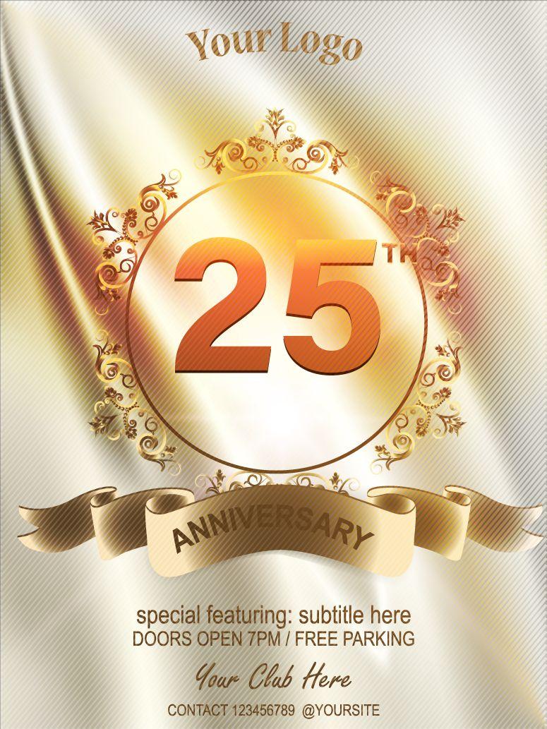 anniversary 25 years anniversary vector icon, logo