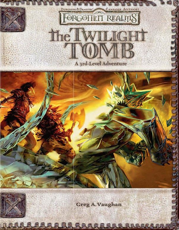 The Twilight Tomb (3 5) - Forgotten Realms   Book cover and interior
