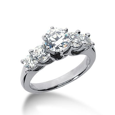 5 Carat Diamond Engagement Ring On Hand Pics 48. 2 Ct Total Weight With A 1  Carat Center Stone Jewelry