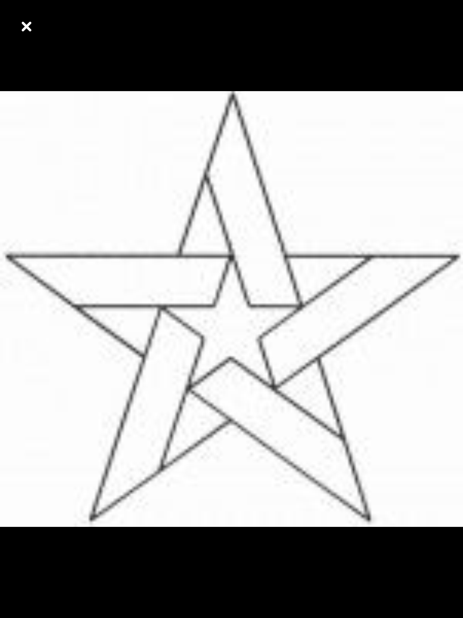 small resolution of five pointed star block continuous line stencil stencil is made of mylar plastic with the displayed design cut into it