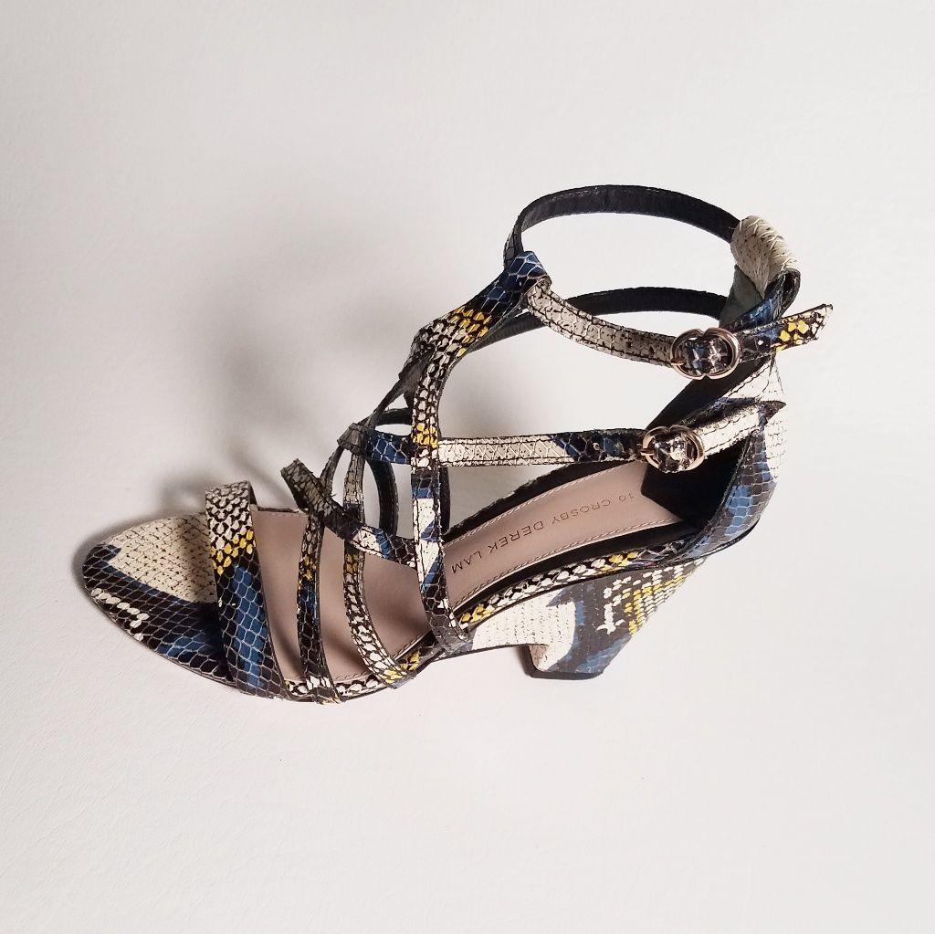 Derek Lam 10 Crosby Zanzibar Wedge Sandals Leather Wedge Sandals Strappy Dress Sandals Leather Wedges