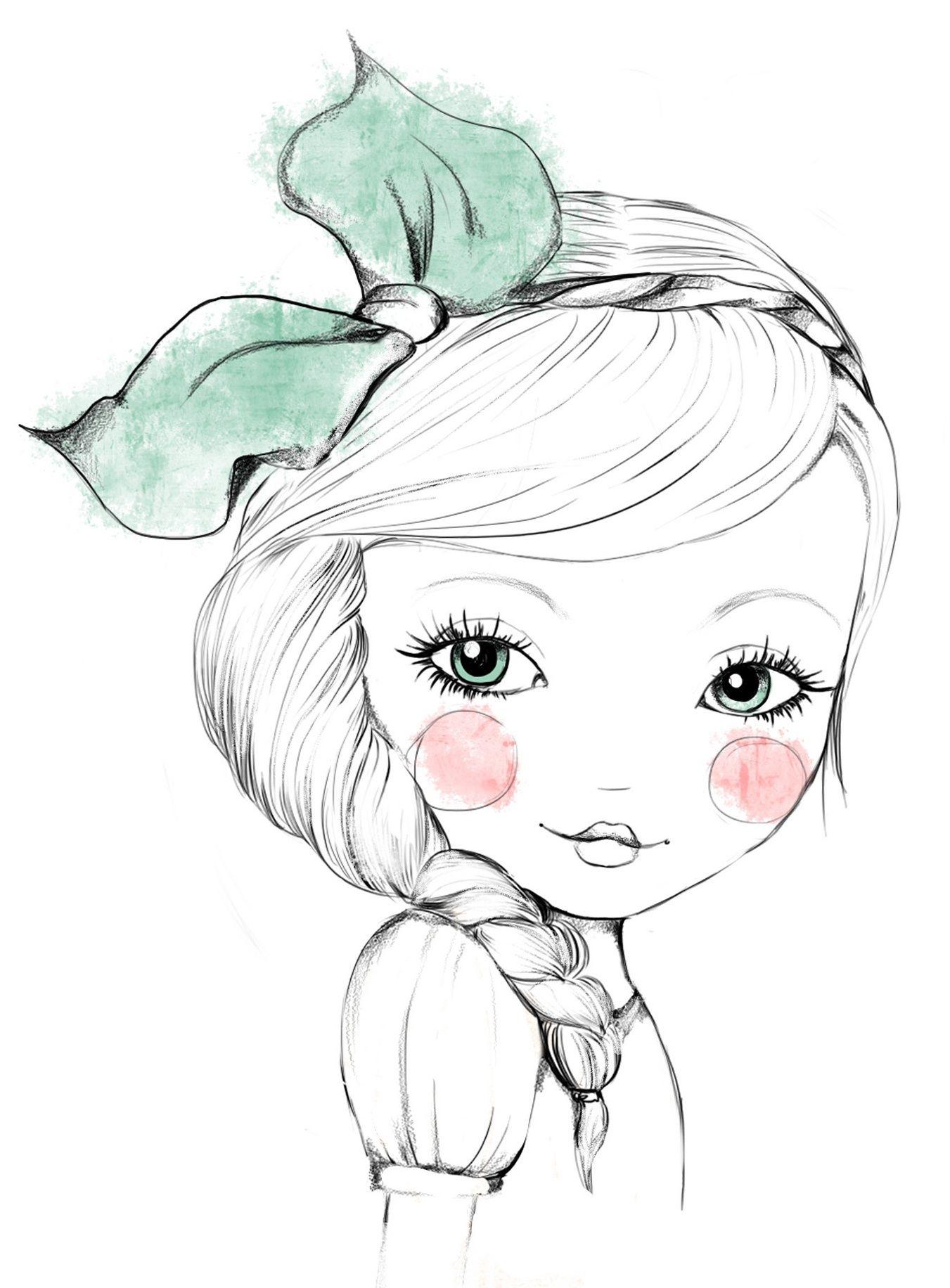 Картинки девочки рисованные