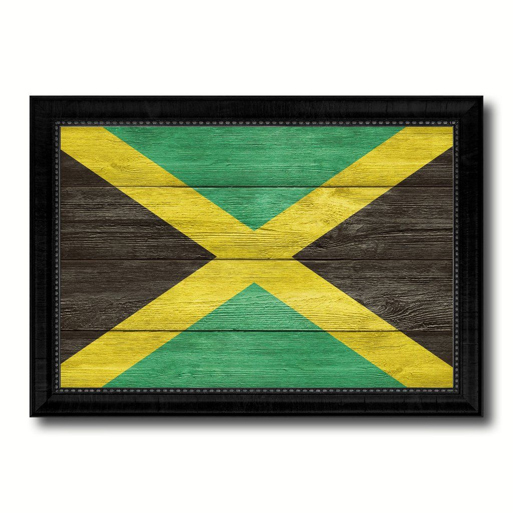 Custom Picture Framed With Country Flag Art Beautifully