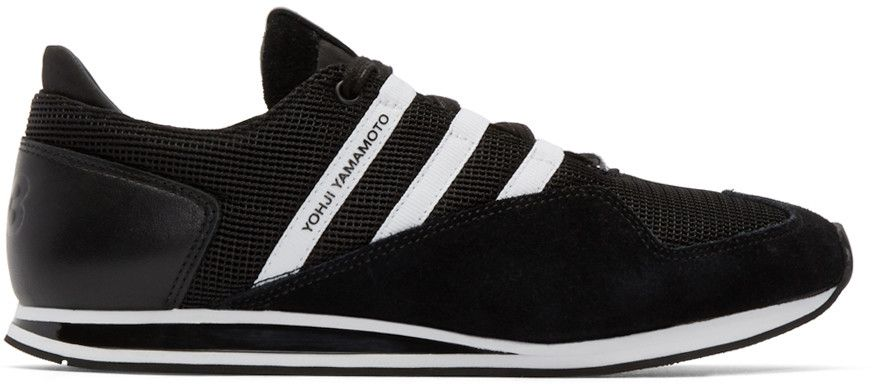 the latest bbbd0 c851a Y-3 Black   White Kyoshu Run Sneakers.  y-3  shoes  sneakers