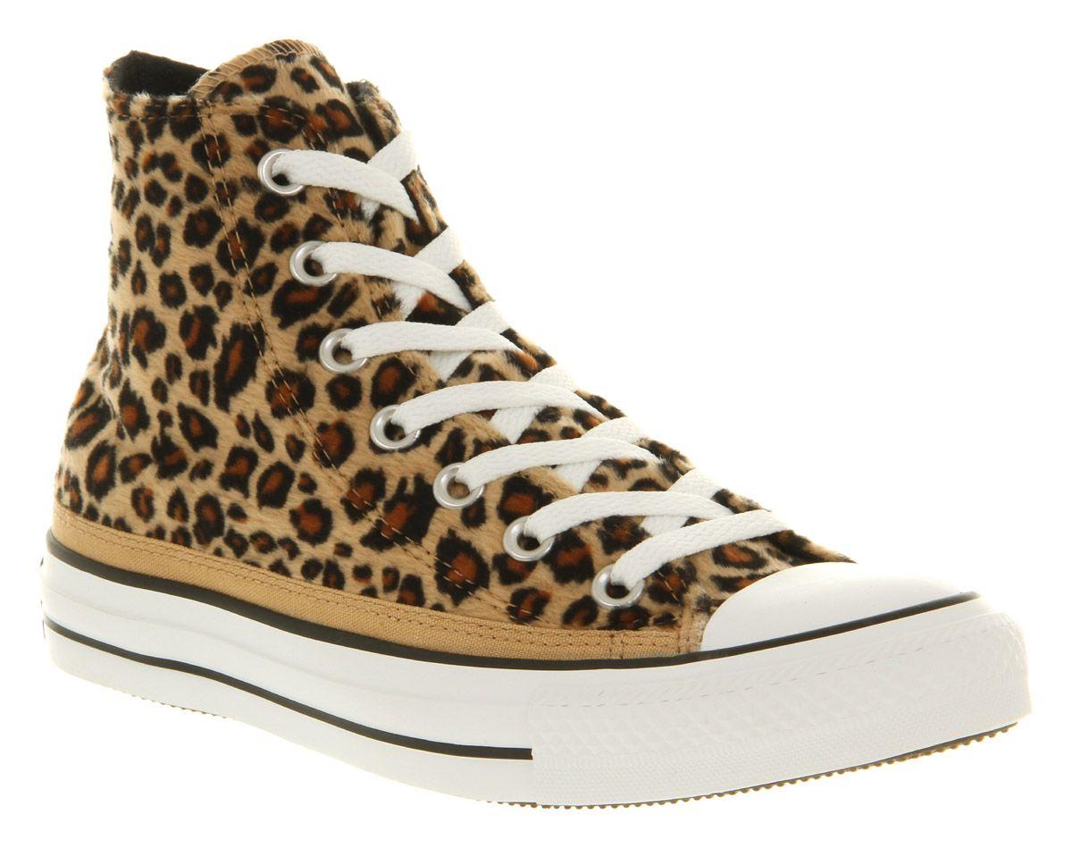 converse léopard