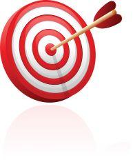 Bull S Eye Target With Arrow Illustration Arrow Illustration Bulls Eye Image Vector Art Illustration
