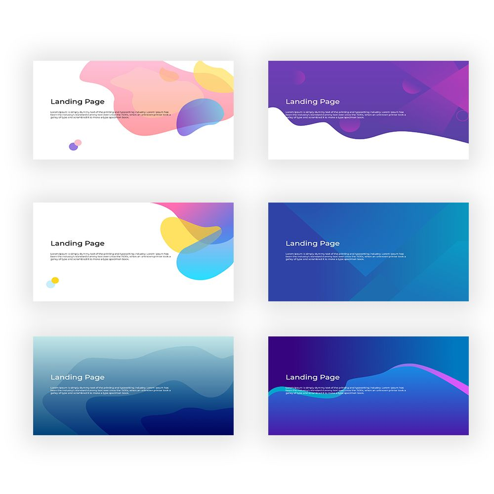 6 Flat Background Design Landing Page Png Svg And Adobe Xd In 2020 Website Background Design Simple Website Design Web Design