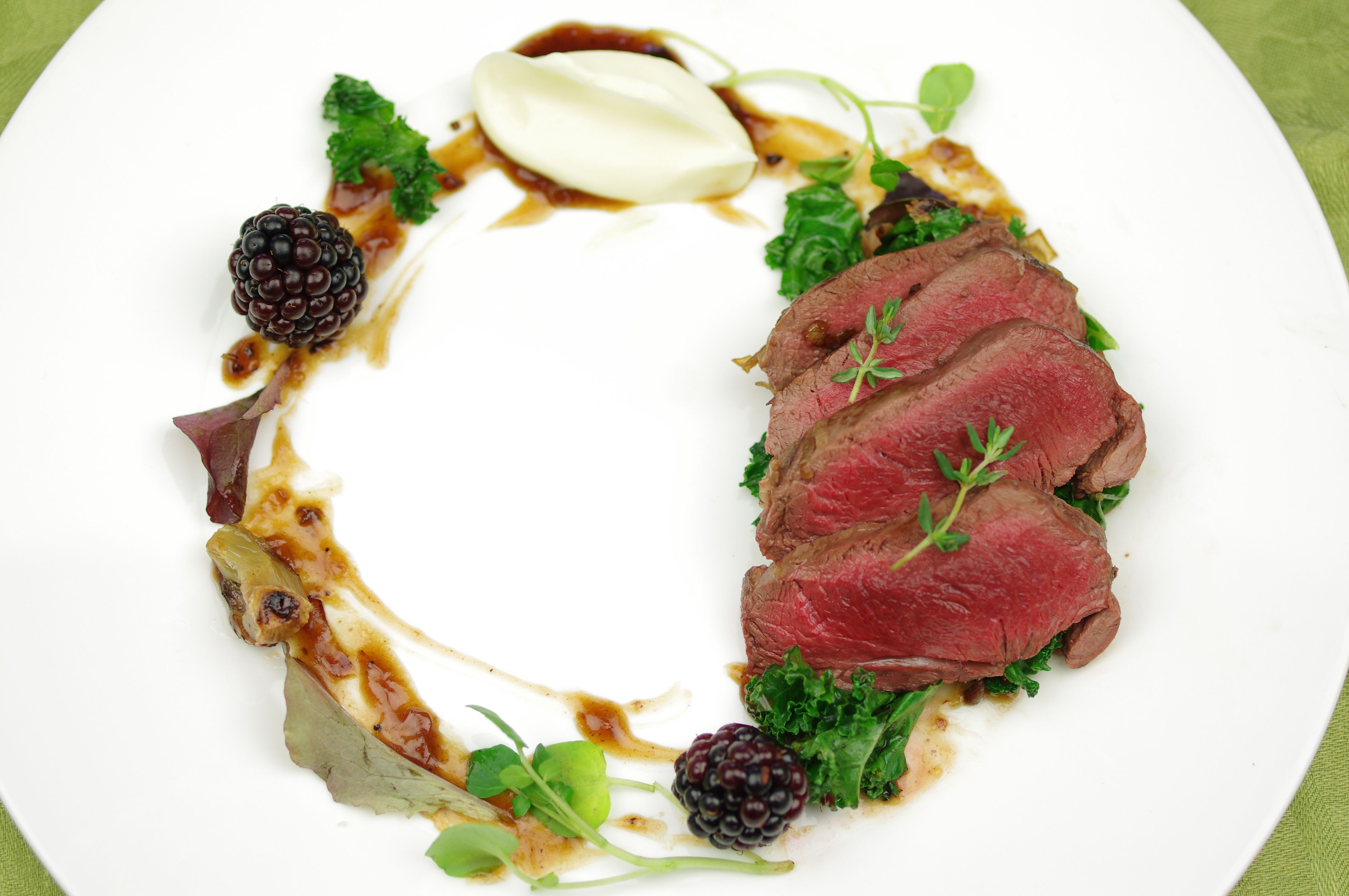 Venison plating | The deer in the woods | Pinterest ...
