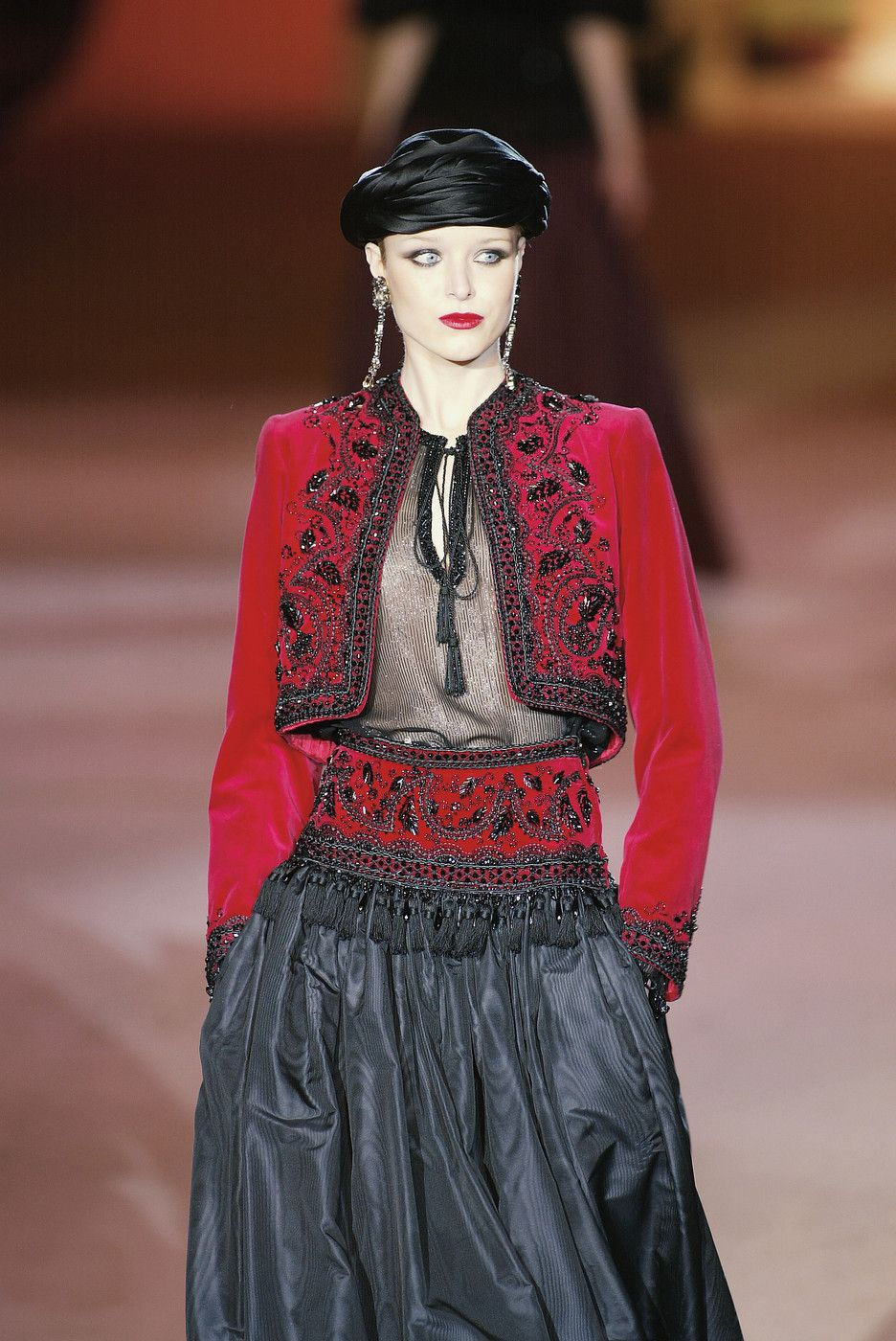 10d982d1d9c YSL final retrospective collection ~ this from the Russian collection 1976  ~ Yves Saint Laurent at Couture Spring 2002 - StyleBistro