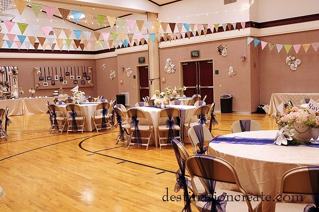 LDS Cultural Hall Reception Rustic Chic
