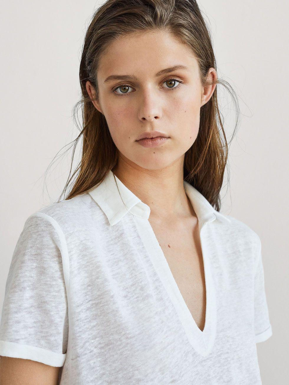 041bf15006 PLAIN LINEN POLO SHIRT - Women - Massimo Dutti | her knits in 2019 ...