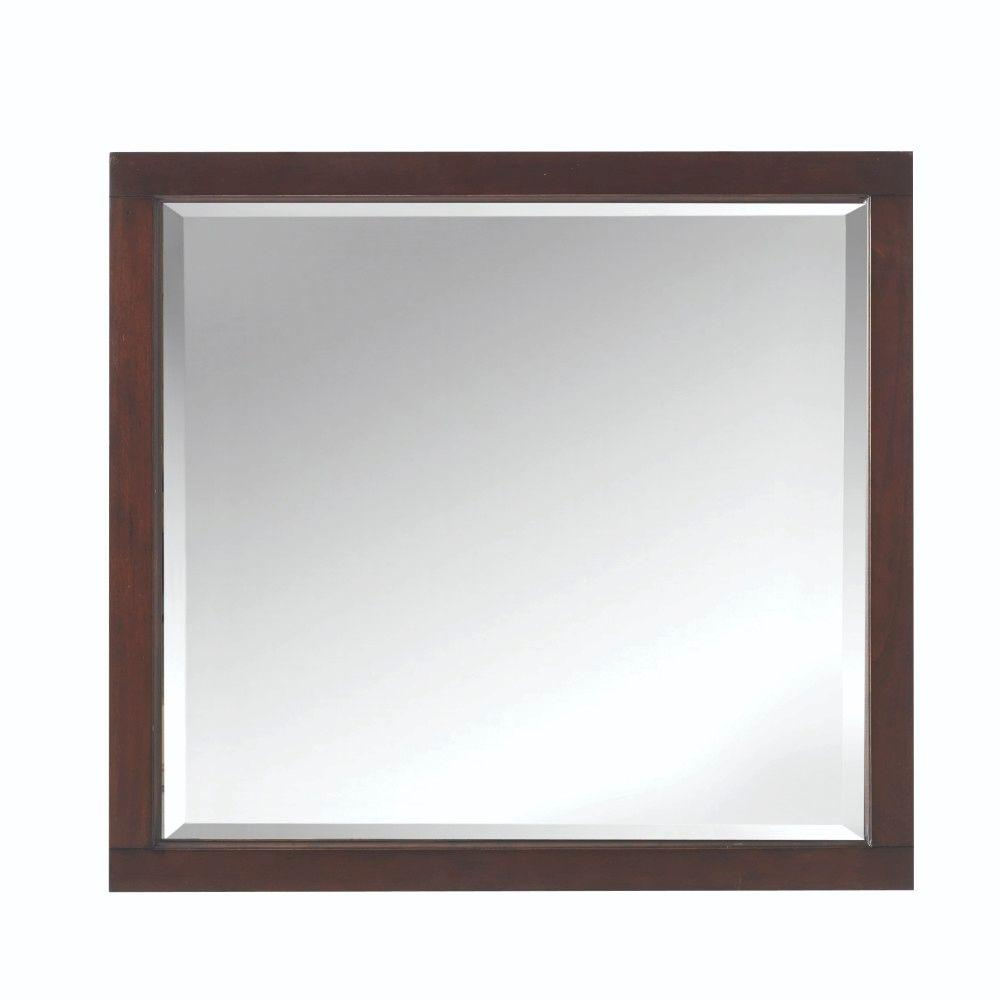 Home Decorators Collection 33 In W X 36 In H Framed Rectangular Bathroom Vanity Mirror In Cocoa 9554700840 The Home Depot Framed Mirror Wall Frames On Wall Home Decorators Collection [ 1000 x 1000 Pixel ]