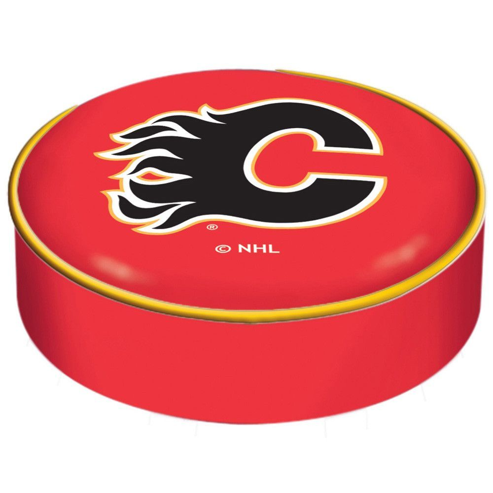 Calgary Flames Red SlipOn Bar Stool Seat Cover Holland