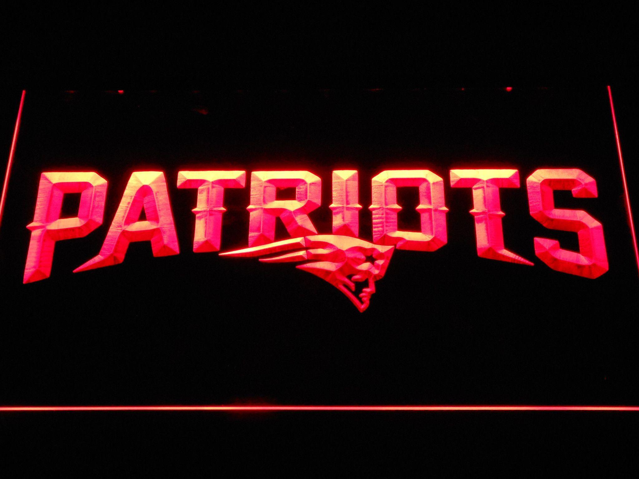 New England Patriots Wordmark Led Neon Sign Led Neon Signs Neon Signs New England Patriots