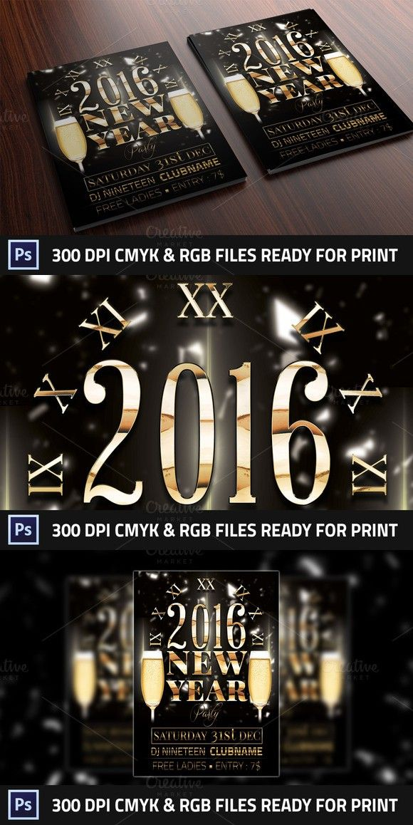 New Year Club Flyer Flyer Templates $500 Flyer Templates - club flyer background