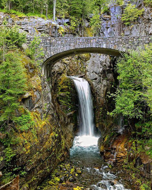 Christine Falls, Mt. Rainier Park by jwkeith on Flickr.