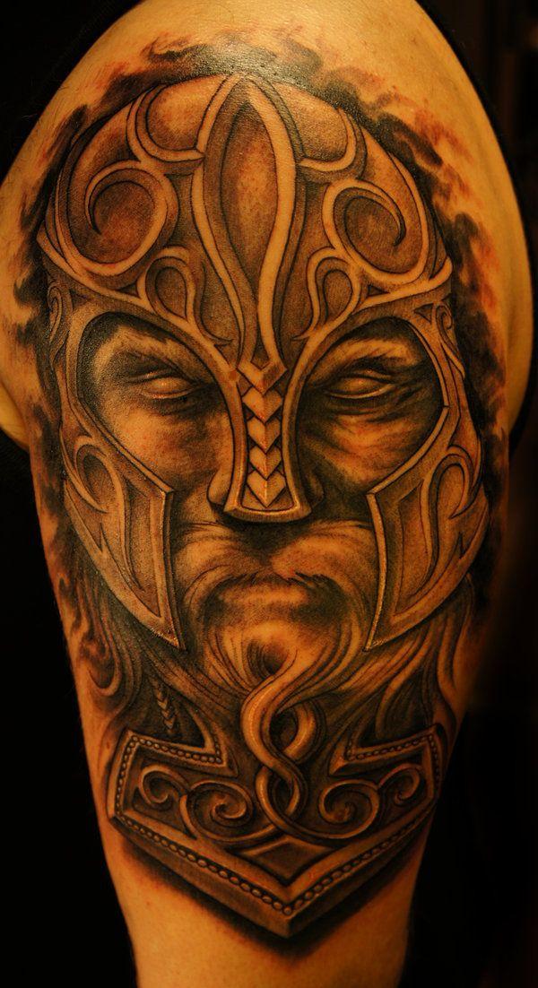 viking thor hammer tattoo by strangeris on deviantart viking tattoos pinterest tatouage. Black Bedroom Furniture Sets. Home Design Ideas