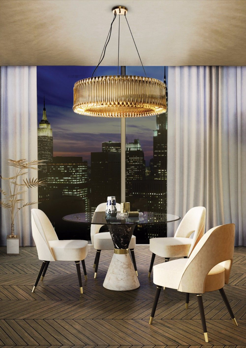 Take a look at this unique dining room lighting idea and ...