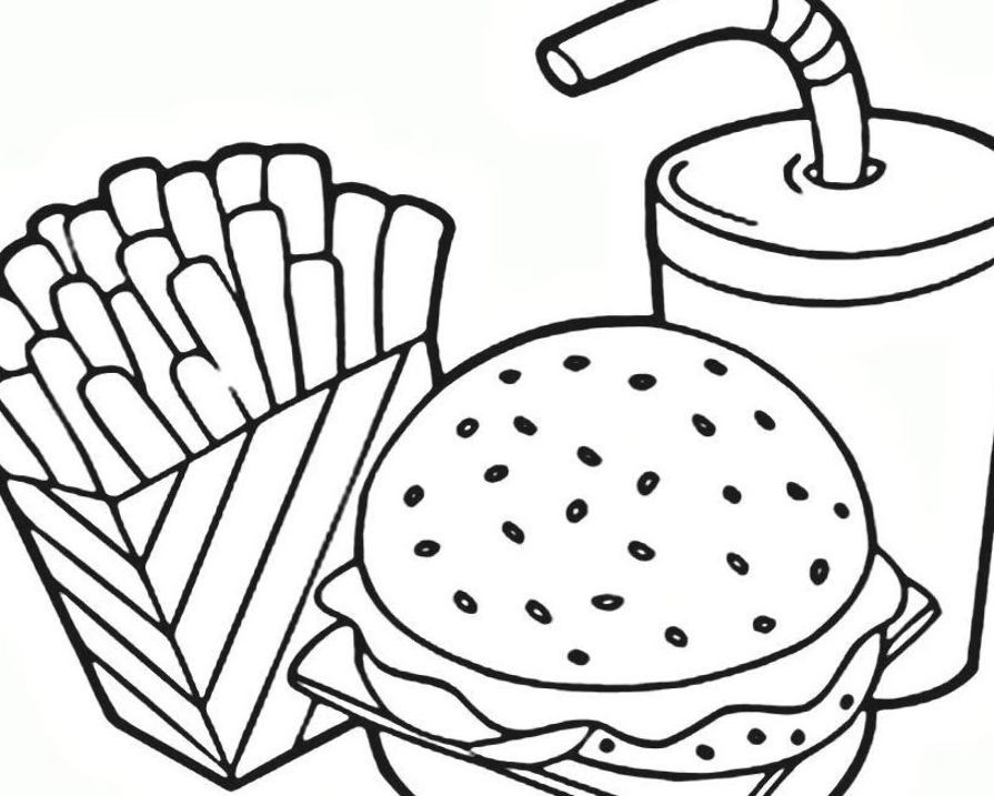 Free Coloring Pages For Kids And Adults Printable Fast In 2020 Food Coloring Pages Pizza Coloring Page Free Coloring Pages