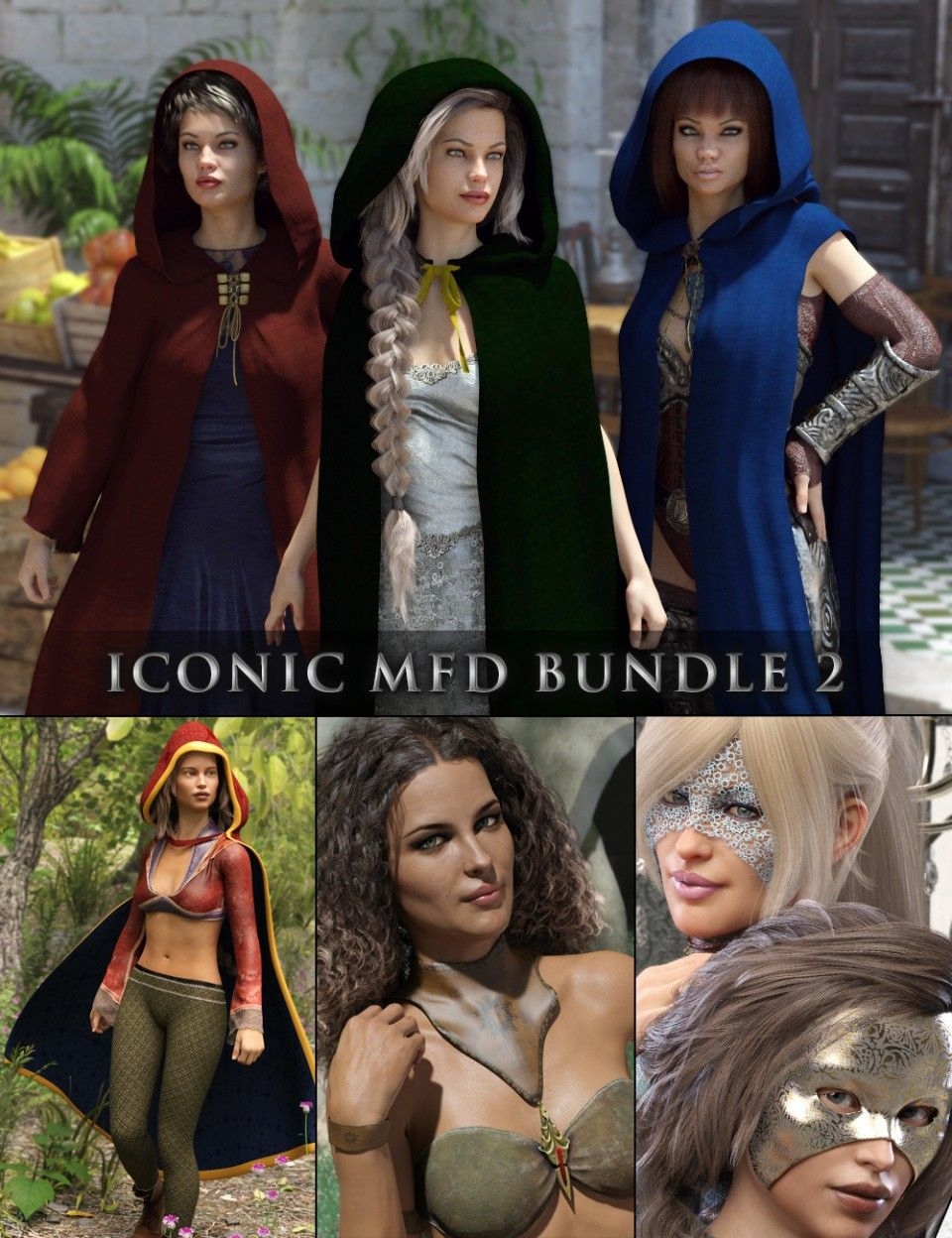 Iconic MFD Bundle 2 G8F | Daz3D Clothing 1 | Female, Model